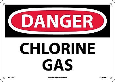 Danger, Chlorine Gas, 10X14, Rigid Plastic