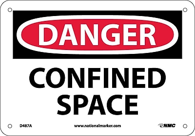 Danger, Confined Space, 7X10, .040 Aluminum