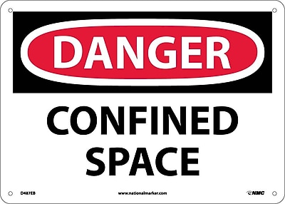Danger, Confined Space, 10X14, Fiberglass