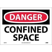 Danger, Confined Space, 10X14, Adhesive Vinyl