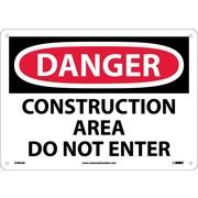 Danger, Construction Area Do Not Enter, 10X14, .040 Aluminum