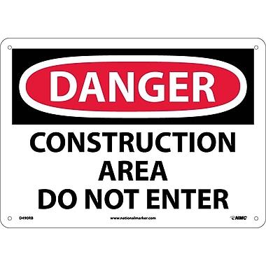 Danger, Construction Area Do Not Enter, 10X14, Rigid Plastic