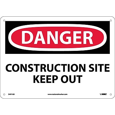 Danger, Construction Site Keep Out, 10