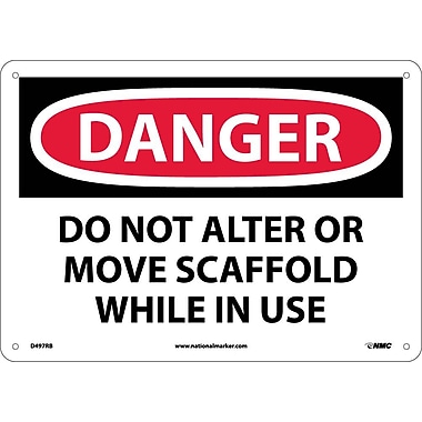 Danger, Do Not Alter Or Move Scaffold While In Use, 10