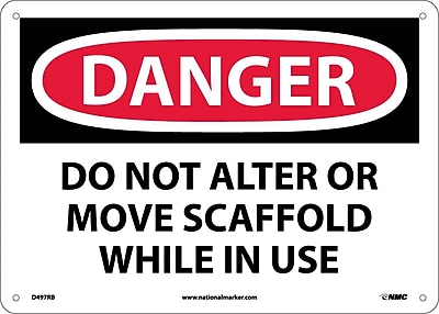 Danger, Do Not Alter Or Move Scaffold While In Use, 10X14, Rigid Plastic