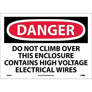Danger, Do Not Climb Over This Enclosure Contains High Voltage Electrical Wires, 10