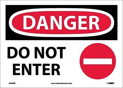 Danger, Do Not Enter, Graphic, 10X14, Adhesive Vinyl