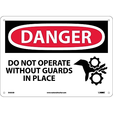 Danger, Do Not Operate Without Guards In Place, Graphic, 10