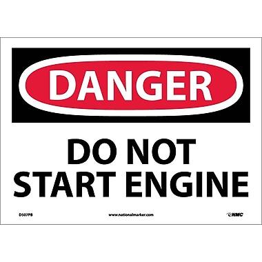 Danger, Do Not Start Engine, 10X14, Adhesive Vinyl