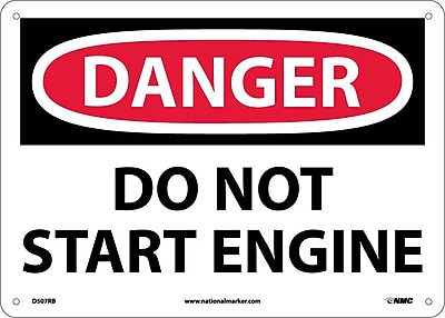 Danger, Do Not Start Engine, 10X14, Rigid Plastic