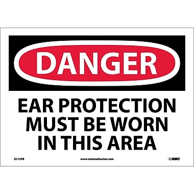 Danger, Ear Protection Must Be Worn In This Area, 10X14, Adhesive Vinyl
