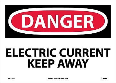 Danger, Electric Current Keep Away, 10X14, Adhesive Vinyl
