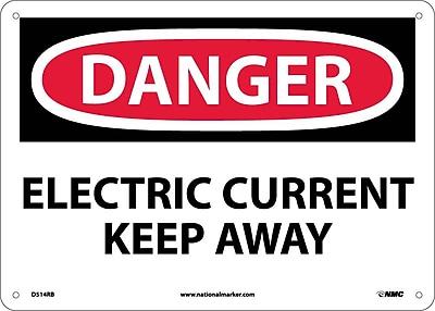 Danger, Electric Current Keep Away, 10X14, Rigid Plastic