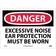 Danger, Excessive Noise Ear Protection Must Be Worn, 10X14, Adhesive Vinyl