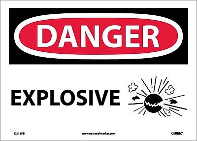 Danger, Explosive, Graphic, 10X14, Adhesive Vinyl