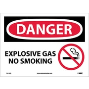 Danger, Explosive Gas No Smoking, Graphic, 10X14, Adhesive Vinyl