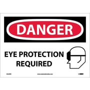 Danger, Eye Protection Required, Graphic, 10X14, Adhesive Vinyl