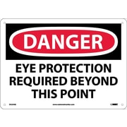 Danger, Eye Protection Required Beyond This Point, 10X14, .040 Aluminum
