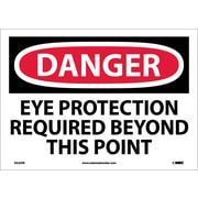 Danger, Eye Protection Required Beyond This Point, 10X14, Adhesive Vinyl