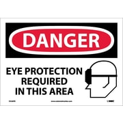 Danger, Eye Protection Required In This Area, Graphic, 10X14, Adhesive Vinyl