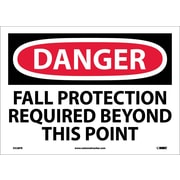 Danger, Fall Protection Required Beyond This Point, 10X14, Adhesive Vinyl