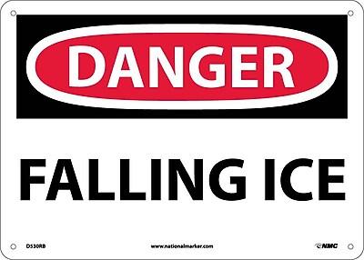 Danger, Falling Ice, 10X14, Rigid Plastic