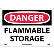 Danger, Flammable Storage, 10X14, Rigid Plastic