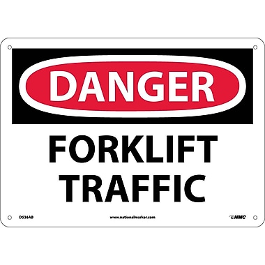 Danger, Forklift Traffic, 10X14, .040 Aluminum