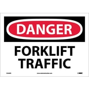 Danger, Forklift Traffic, 10X14, Adhesive Vinyl
