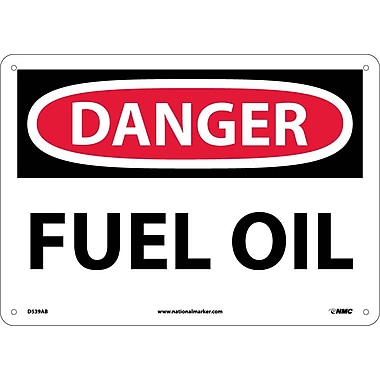 Danger, Fuel Oil, 10X14, .040 Aluminum