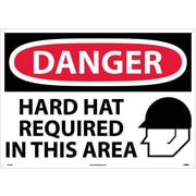 Danger, Hard Hats Required In This Area, Graphic, 20X28, .040 Aluminum