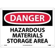 Danger, Hazardous Materials Storage Area, 10X14, .040 Aluminum