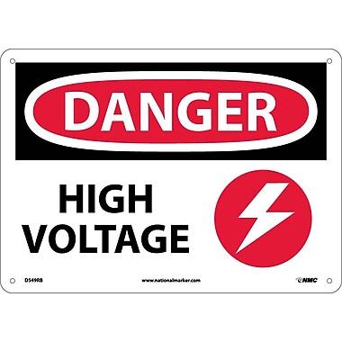Danger, High Voltage, Graphic, 10X14, Rigid Plastic