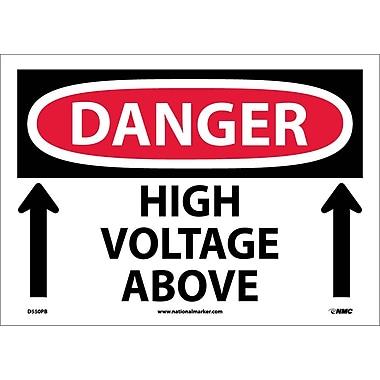 Danger, High Voltage Above, Up Arrow, 10