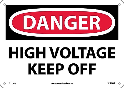 Danger, High Voltage Keep Off, 10X14, .040 Aluminum