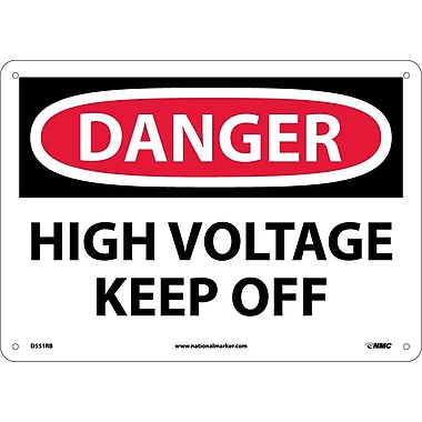 Danger, High Voltage Keep Off, 10X14, Rigid Plastic