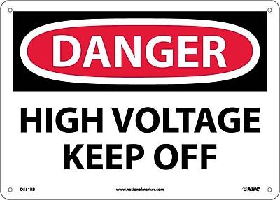 Danger, High Voltage Keep Off, 10X14, Rigid Plastic