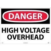 Danger, High Voltage Overhead, 20X28, .040 Aluminum