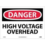 Danger, High Voltage Overhead, 10X14, Adhesive Vinyl