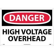Danger, High Voltage Overhead, 14X20, Rigid Plastic