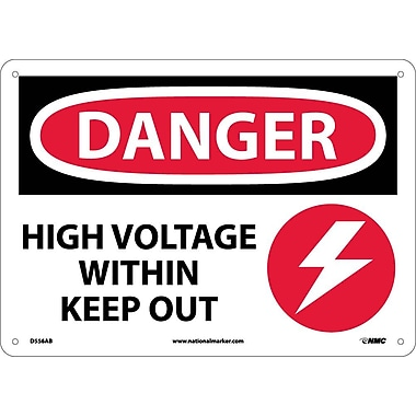 Danger, High Voltage Within Keep Out, Graphic, 10X14, .040 Aluminum