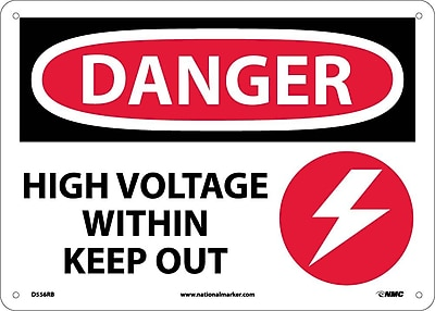 Danger, High Voltage Within Keep Out, Graphic, 10X14, Rigid Plastic