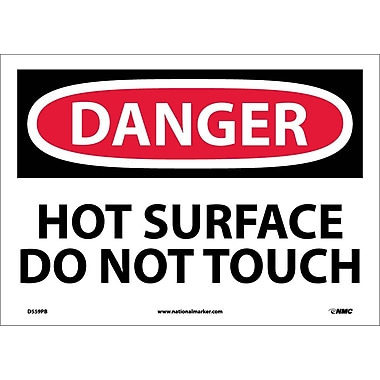Danger, Hot Surface Do Not Touch, 10X14, Adhesive Vinyl