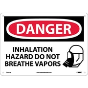 Danger, Inhalation Hazard Do Not Breathe Vapors, Graphic, 10X14, .040 Aluminum