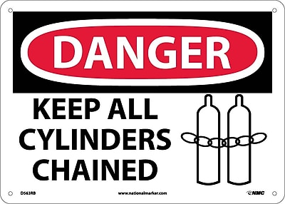 Danger, Keep All Cylinders Chained, Graphic, 10X14, Rigid Plastic
