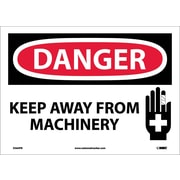 Danger, Keep Away From Machinery, Graphic,  10X14, Adhesive Vinyl