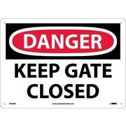 Panneau Danger, Keep Gate Closed, 10 x 14 po, plastique rigide