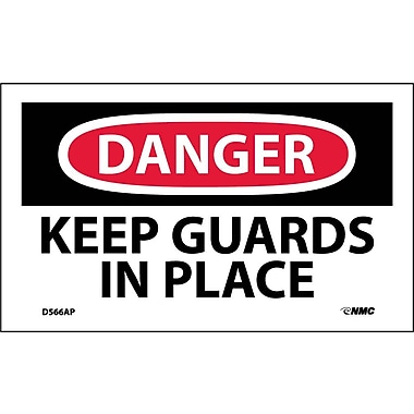Labels Danger, Keep Guards In Place, 3
