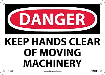 Danger, Keep Hands Clear Of Moving Machinery, 10X14, .040 Aluminum
