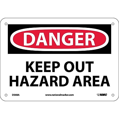 Danger, Keep Out Hazard Area, 7
